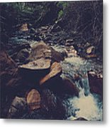 Life Flows On Metal Print by Laurie Search