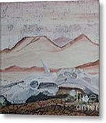 Life From Death In The Desert Metal Print