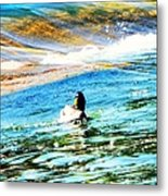 Life Is Just Ducky Metal Print