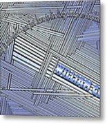 Life Is Material Metal Print