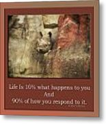 Life Is Moments Of Camouflage Metal Print