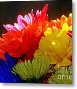 Life Is Short Buy The Flowers Metal Print