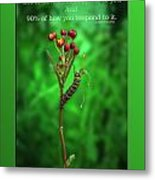 Life Is Slow And Steady Metal Print