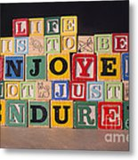 Life Is To Be Enjoyed Not Just Endured Metal Print