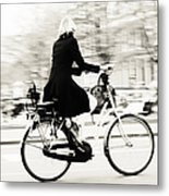 Life On Bike. Trash Sketches From The Amsterdam Streets Metal Print