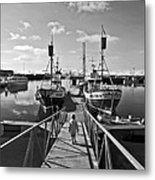 Life On The Docks Metal Print
