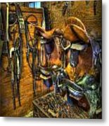 Life On The Ranch - Tack Room Metal Print by Lee Dos Santos