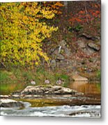 Life On The River Square Metal Print by Bill Wakeley