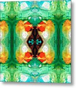 Life Patterns 1 - Abstract Art By Sharon Cummings Metal Print