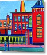 Life Revolving in the City Lowell MA Metal Print