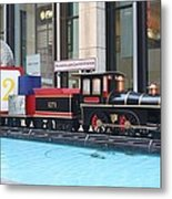 Life Size Toy Train Set In Nyc Metal Print