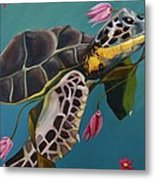 Life Under The Sea Metal Print