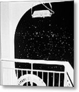 lifebelt on board the hurtigruten ship ms midnatsol at night in winter in Tromso troms Norway europe Metal Print