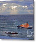Lifeboats And A Gig Metal Print