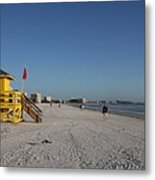 Lifeguard On Siesta Key Metal Print