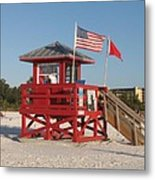 Lifeguard Siesta Beach Metal Print
