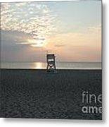 Lifeguard Chair At Sunrise.01 Metal Print