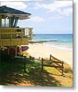 Lifeguard Hut On The Beach Metal Print