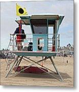 Lifeguard Shack At The Santa Cruz Beach Boardwalk California 5d23711 Metal Print by Wingsdomain Art and Photography