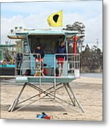 Lifeguard Shack At The Santa Cruz Beach Boardwalk California 5d23713 Metal Print