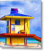 Lifeguard Station Metal Print