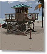 Lifeguard Station IIi Abstract Metal Print