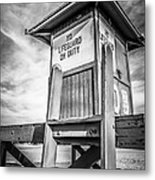 Lifeguard Tower 10 Newport Beach Hdr Picture Metal Print