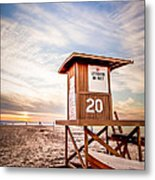 Lifeguard Tower 20 Newport Beach Ca Picture Metal Print