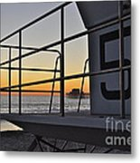 Lifeguard Tower 5  Metal Print
