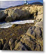 Lifeguard Tower On The Edge Of A Cliff Metal Print