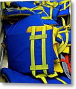 Lifejackets Metal Print