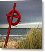 Lifesaver On The Beach Metal Print