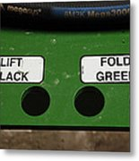 Lift Black Fold Green Metal Print by Christi Kraft