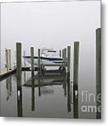 Lifted Up Into The Fog Metal Print