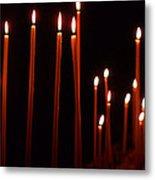 Light A Candle Say A Prayer Metal Print