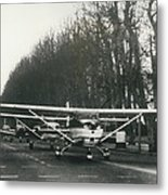 Light Aircraft In March Past Metal Print
