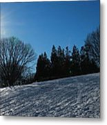 Light And Blue Metal Print