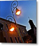Light And Moon In B.bystrica Metal Print