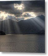 Light And Mountains Metal Print