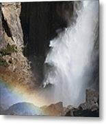Light And Water - Yosemite Falls Metal Print