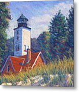 Light At Presque Isle Metal Print