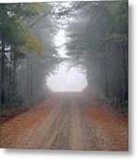 Light At The End Of The Road Metal Print