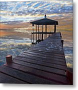 Light At The Lake Metal Print