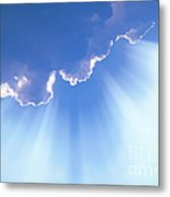 Light Beams From Cloud Metal Print