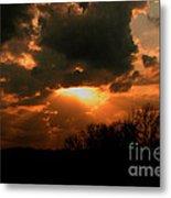 Light Beyond The Clouds Metal Print