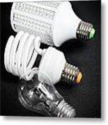 Light Bulb Generations Metal Print