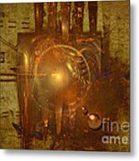 Light Clock Metal Print