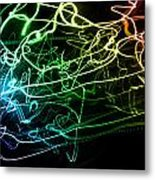 Light Explosion 12 Metal Print
