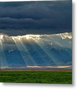 Light From The City Above Metal Print