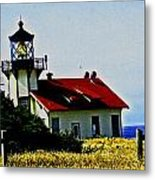 Light House At Midday Metal Print